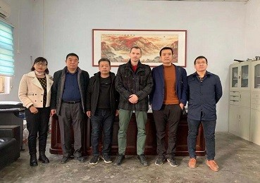 Czech customers visit our factory for white fused alumina on November 21st,2019.